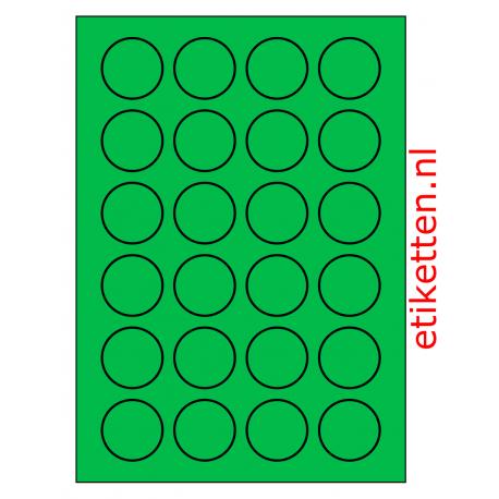 40 mm Rond 100 vel p.doos GROEN