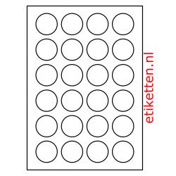 40 mm Rond 100 vellen per doos 24 etiketten per vel PMV