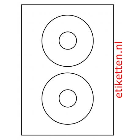 118 mm rond CD Labels 100 vel p.doos OPAAK
