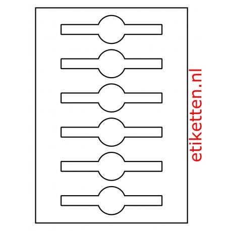 Sluitzegel Glans voor potten en flessen totale lengte: 140 mm Rond: 40