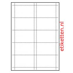 85 x 54 mm 100 vellen per doos 10 visitekaarten per vel