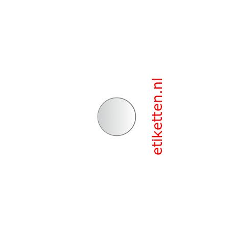 20 mm Rond Glashelder 2.000 per rol