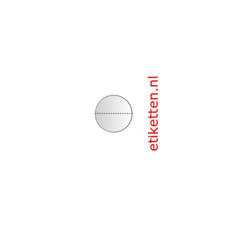 20 mm rond Glashelder + PERFORATIE. 2.000 p.rol