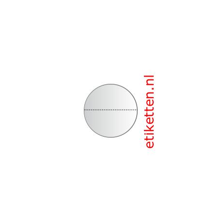 30 mm rond Glashelder + PERFORATIE 2.000 p.rol