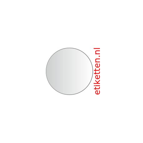 40 mm Rond Glashelder 1.000 per rol