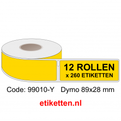 99010 Dymo Labels 89x28 mm GEEL