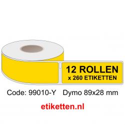 99010 Dymo Labels 89x28 mm Geel
