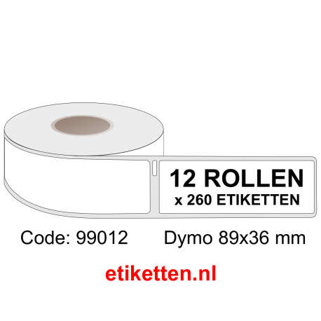99012 Dymo Labels 89x36 mm