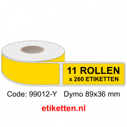 99012 Dymo Labels 89x36 mm GEEL