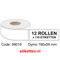 99019 Dymo Labels 190x59 mm