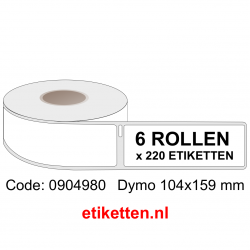 0904980 Dymo Labels 104x159 mm XL
