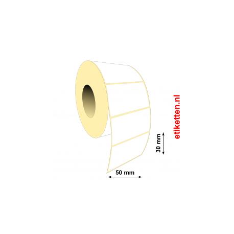 Rol etiketten 50 x 30 mm 3.000 per rol POLYJET GLANS