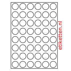30 mm Rond 100 vellen per doos 48 etiketten per vel PMV
