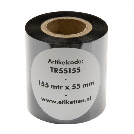 ThermoTransfer linten 55 mm breed. 155 meter lang. Premium Wax Out