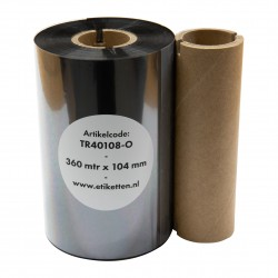 ThermoTransfer linten Breedte 104mm. Lengte. 360 mtr. Ink: outside