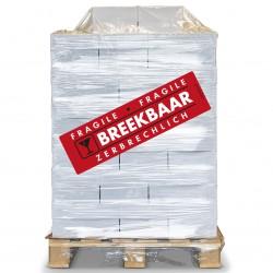PALLET Breekbaar Etiket 100 x 350 mm. Per rol: 200.  Kern 76 mm