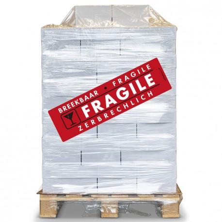 PALLET Fragile Etiket 100 x 350 mm. Per rol: 200. Kern 76 mm