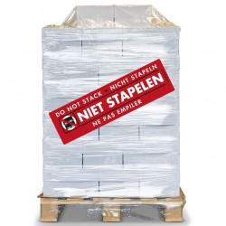 PALLET Niet Stapelen Etiket 100 x 350 mm. Per rol: 200.  Kern 76 mm