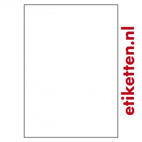 KUNSTSTOF A3 etiketten 297 x 420 mm 200 vellen per doos 1 etiket per vel 2 slitten in backing
